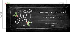 Holly Chalkboard Holiday Greeting Card