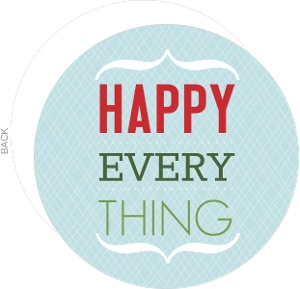Blue Happy Everything Holiday Card