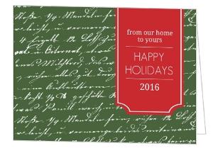 Green Handwritten Note Holiday Card