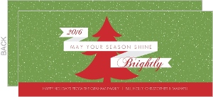 Green and Red Holiday Card