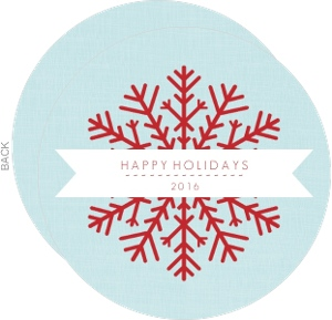 Simple Snowflake and Banner Holiday Card