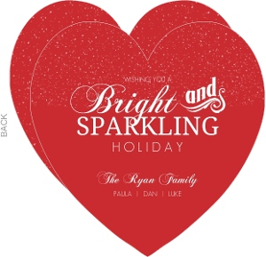Sparkling Red And Bright Business Holiday Card