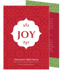 Red And Green Pattern Trifold Holiday Card