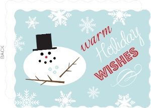 Melting Snowman Holiday Card