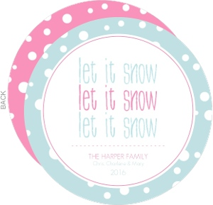 Let It Snow Blue Holiday Card
