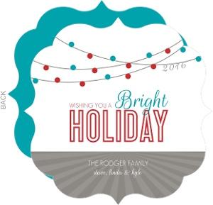 Bright Hanging Lights Holiday Card