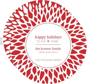 Red Mums Holiday Card