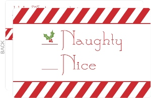 Naughty Or Nice Holiday Card
