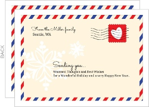 Postal Envelope Happy Holidays Card