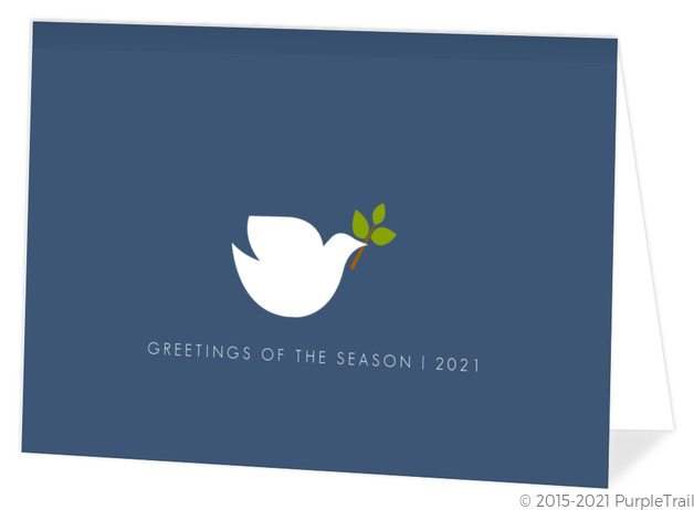 Simple Elegant Dove  Holiday Card