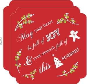 Red And White Icons Holiday Card
