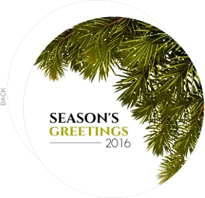 Nobel Fir Green Holiday Card
