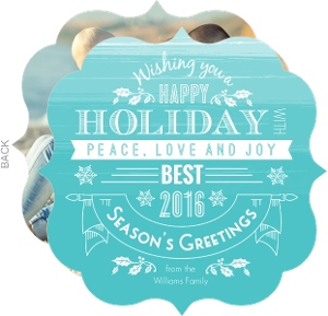Painted Snowflake Holiday Photo Card