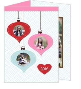 Ornament Faces Holiday Photo Card
