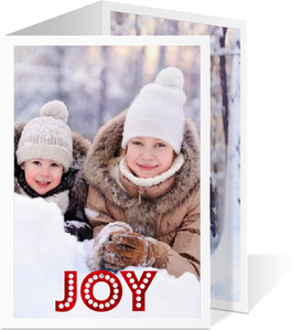 Red and White Polka Dot Holiday Photo Card
