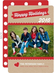 Brown Kraft Paper Simple Holiday Photo Card