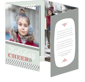 Whimsical Patterns Holiday Photo Card