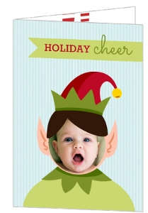 Holiday Elf Cheerful Photo Card