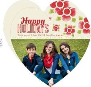 Watercolor Flowers  Holiday Photo Card