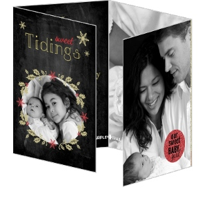 Sweet Tidings Quadfold Holiday Photo Card