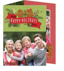 Cookie Happy Holiday Family Photo Card