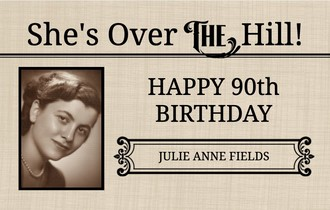 Vintage Over The Hill Birthday Banner