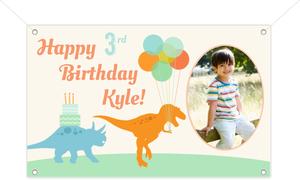 Dinosaur Kids Birthday Party Banner