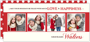 Red Elegance Holiday Photo Card