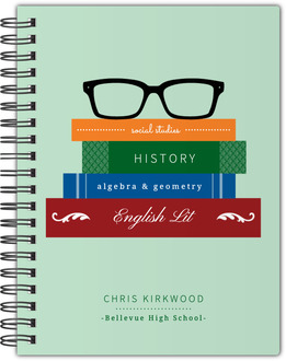 Glasses and Multicolor Books Notebook