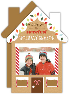 Ginger Bread Holiday House Photo Card