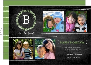 Antique Chalkboard Holiday Photo Card