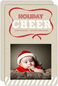 Red Christmas Ribbon Holiday Photo Card