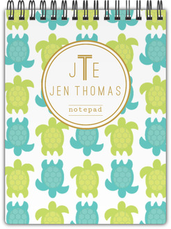 Tropical Turtles Pattern Notepad