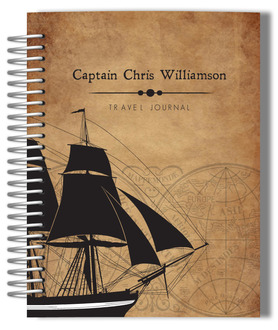 Vintage Pirate Ship Personalized Journal