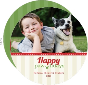 Festive Pet Holiday Photo Card
