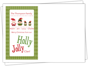 Green Elf Cheer Holiday Envelope