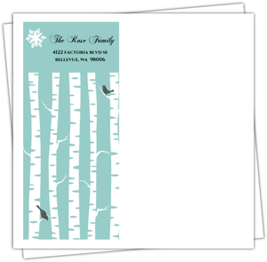 Peaceful Blue Winter Envelope