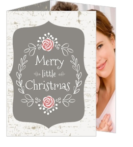 Birch Tree Rustic Holiday Photo Card