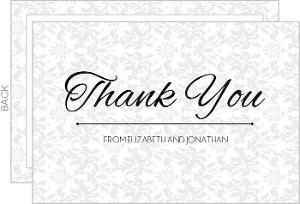 Fancy Pattern Thank You Card