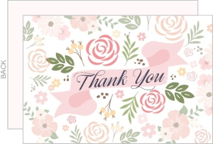Fantasy Floral Thank You Card