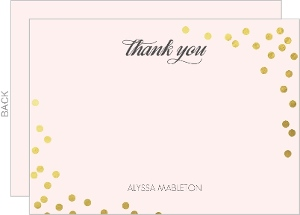 Blush Gold Foil Confetti Thank You Card