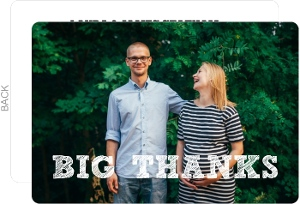 Big Thanks Photo Thank You Card