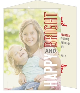 Happy and Bright Photo Corners Holiday Photo Cards