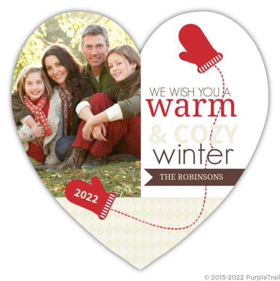 Warm Christmas Wishes  Photo Card