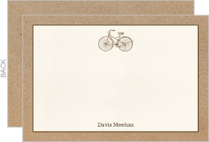 Kraft Bicycle Thank You Card