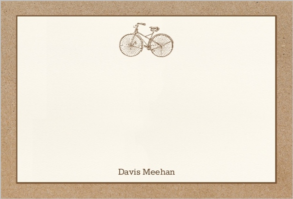 Kraft Bicycle Thank You Card