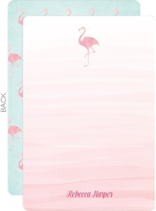 Pink Watercolor Flamingo Thank You Card