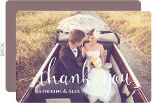 Couple Photo Thank You Card