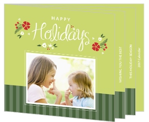 Country Floral Holiday Photo Card