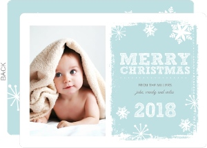 Winter Snowflakes  Holiday Photo Card